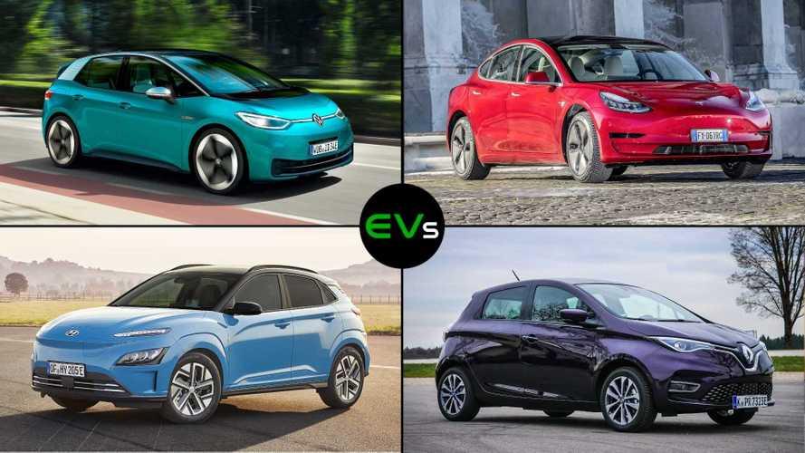 Die meistverkauften Elektroautos im ersten Quartal 2021