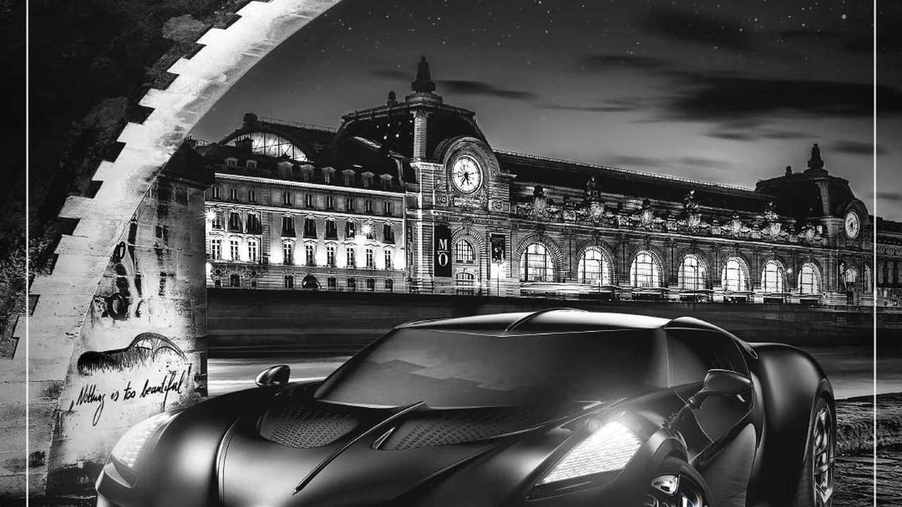 Открытка с Bugatti La Voiture Noire