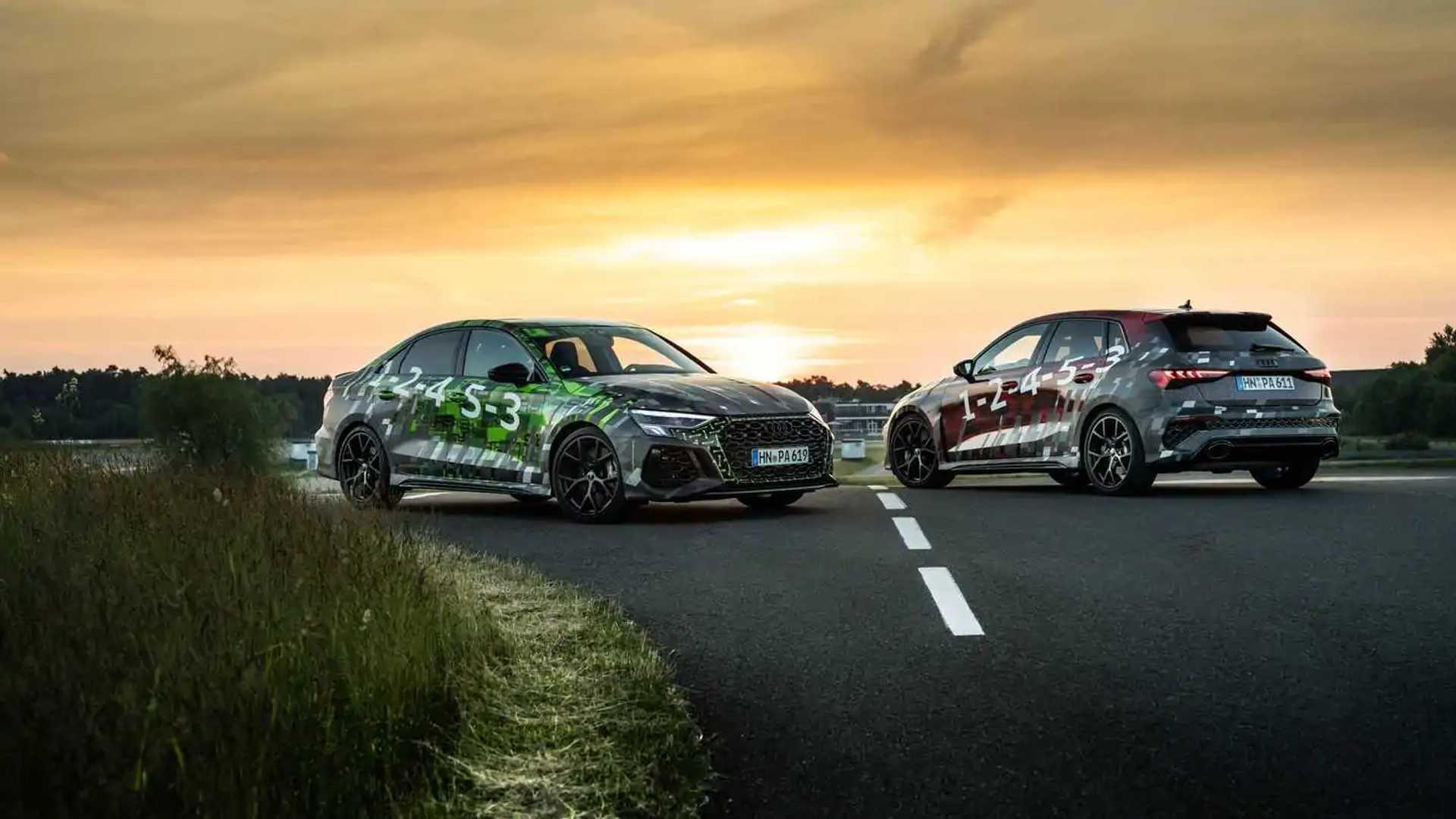 2022 Audi RS3 Sportback and Sedan