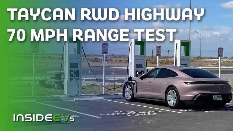 We Put The Base Porsche Taycan Through Our Standard 70 MPH Range Test