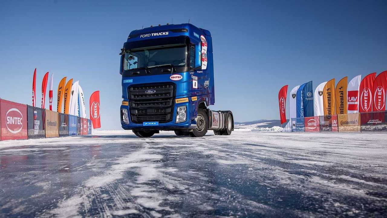 Ford F-MAX: el camión más rápido en el lago Baikal