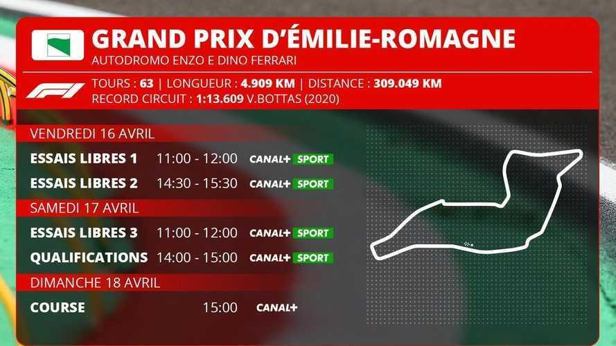 GP d'Émilie-Romagne F1 - Programme TV et guide d'avant-course
