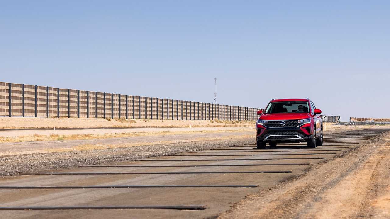 2022 Volkswagen Taos Exterior Test Track