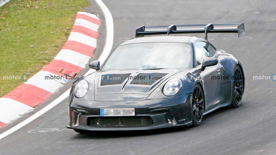 New Porsche 911 GT3 RS Spied Testing Massive Wing At The Nurburgring