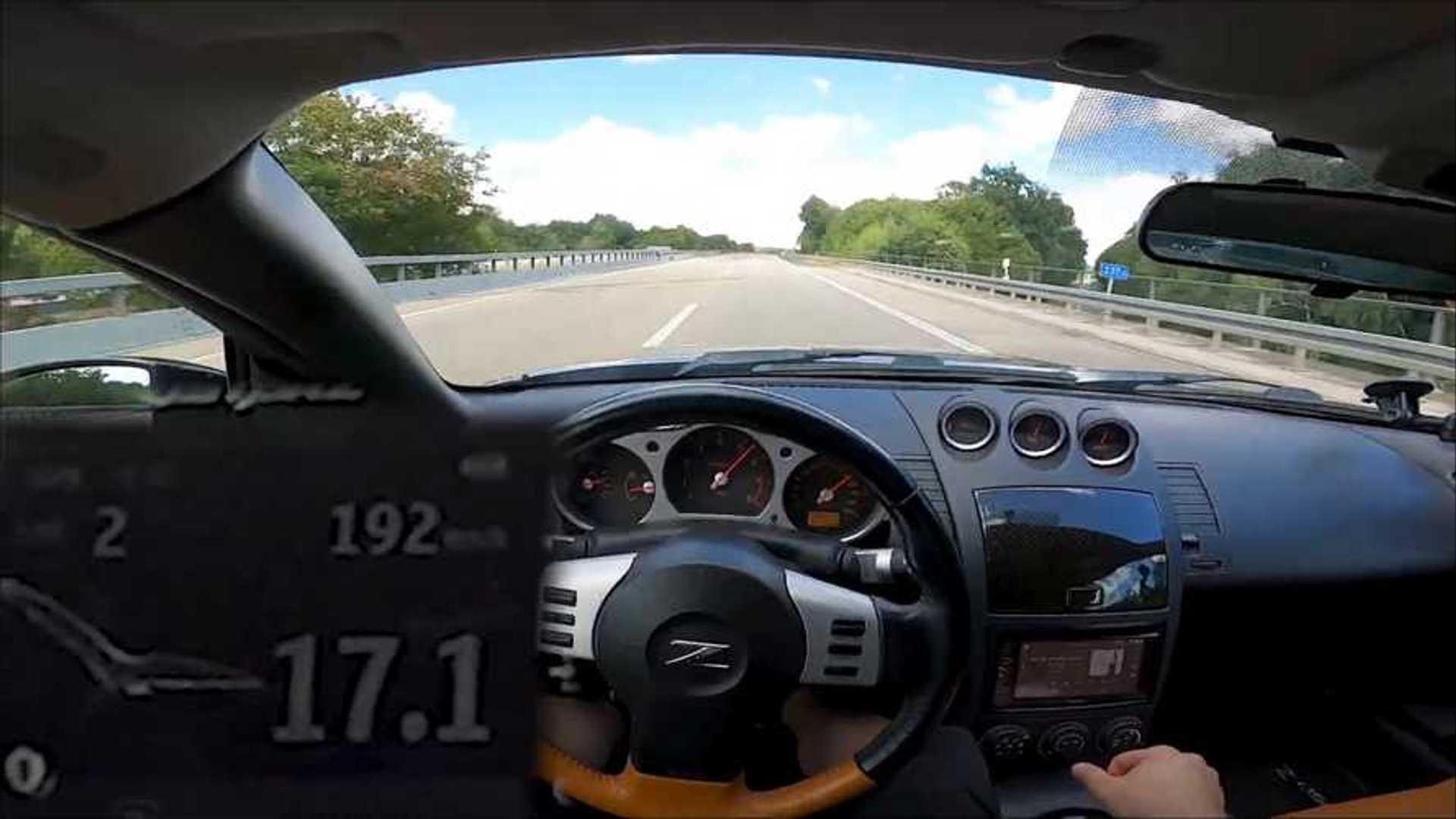 Nissan 350Z покорил немецкий автобан для впечатляющего пробега на максимальной скорости