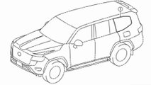 2022 toyota land cruiser drawings