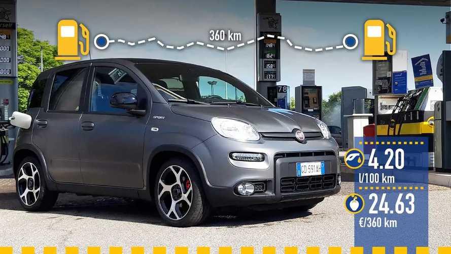 Fiat Panda Sport mild hybrid, la prova dei consumi reali