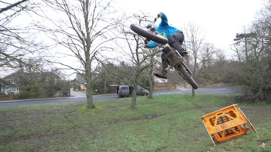 Watch This Guy Gleefully Send A CAKE Kalk Or Electric Motorcycle