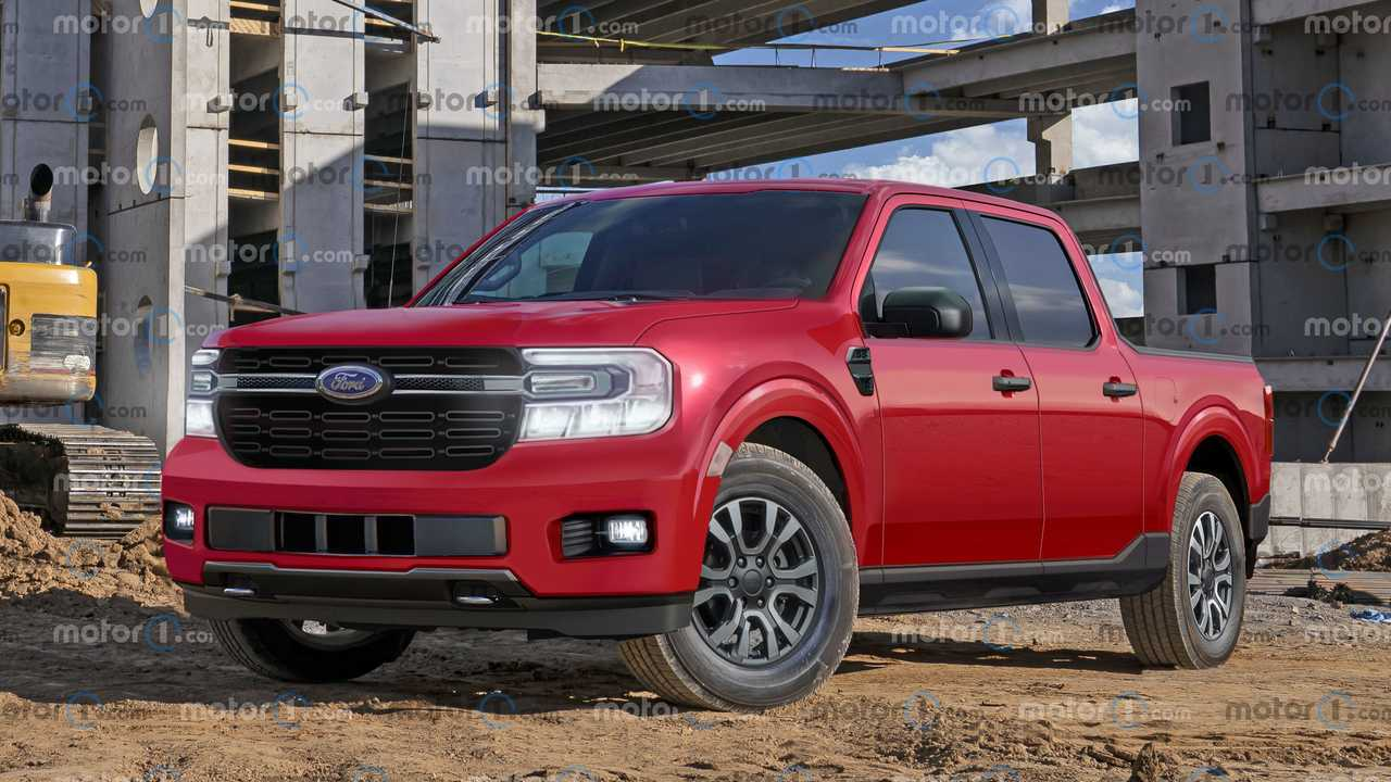 This unofficial rendering shows how the Ford Maverick truck might look.