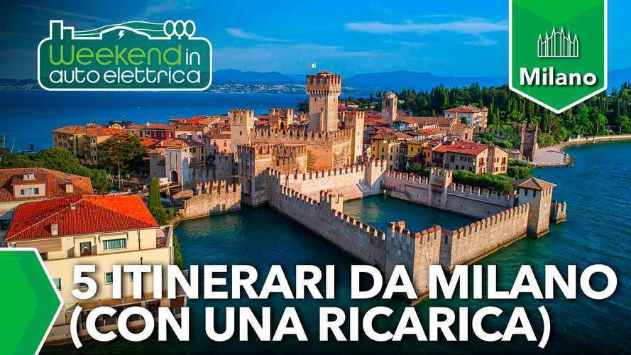 Weekend in auto elettrica: 5 itinerari da Milano con una ricarica