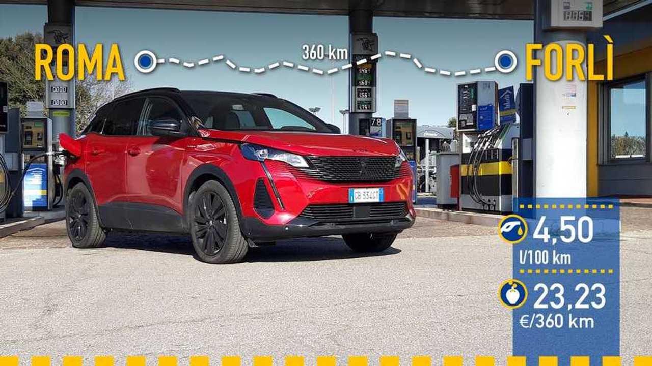 Prueba de consumo Peugeot 3008 HYBRID4 2021