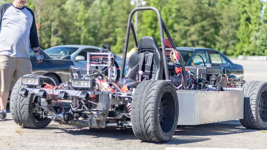 Mid-engined Corvette C5 kart is brilliant