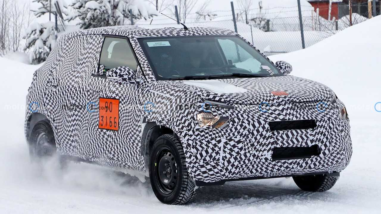 Petit crossover Citroën espionné pour la première fois