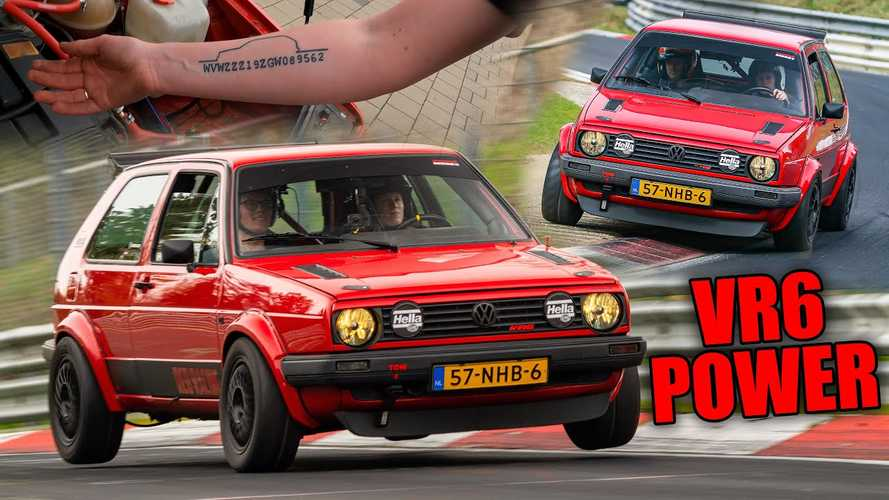 Watch a Volkswagen Golf 2 with VR6 swap thrash the Nurburgring