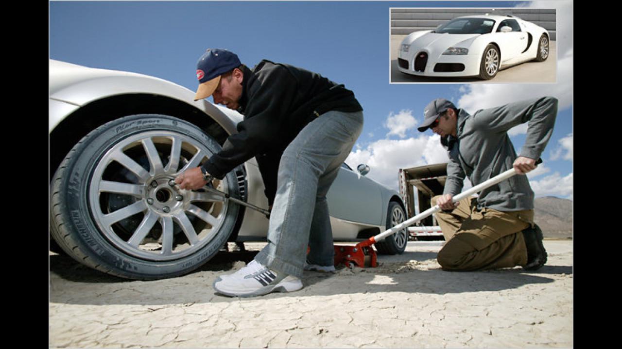 Bugatti Veyron: Satz Räder zirka 35.000 Euro