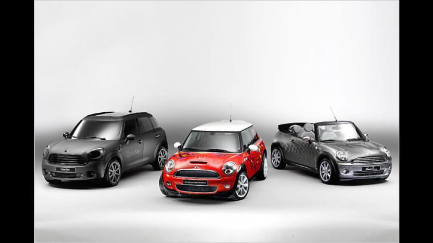 Mini beim Life-Ball: Drei Modedesigner gestalten Kleinwagen