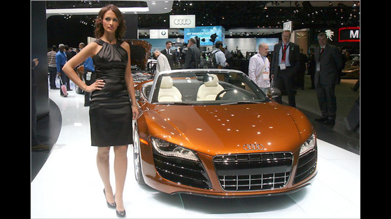 Auch Audi hatte 2010 in Detroit so einiges zu bieten