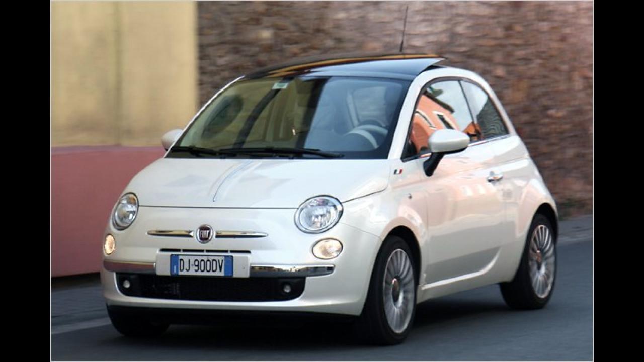 20. Platz: Fiat 500