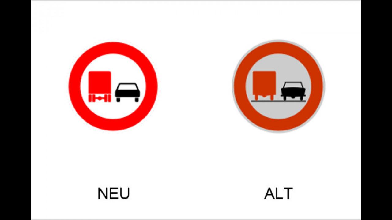 Überholverbot für Kraftfahrzeuge mit einem zulässigen Gesamtgewicht über 3,5 Tonnen, einschließlich ihrer Anhänger, und von Zugmaschinen, ausgenommen Personenkraftwagen und Kraftomnibusse