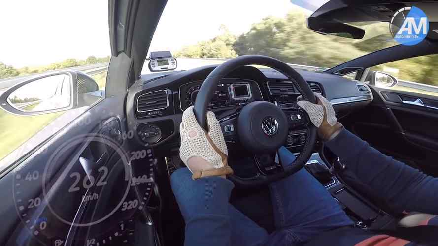 See VW Golf R Performance Pack Flex Its Muscles In Top Speed Test