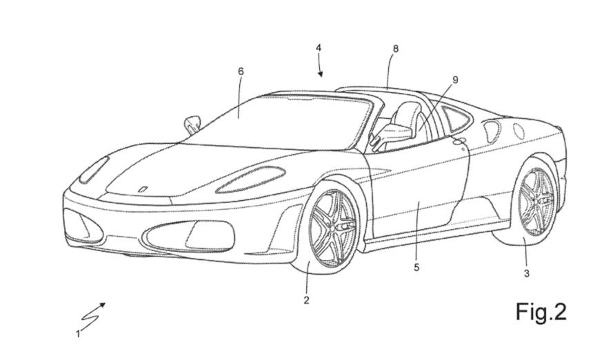 Ferrari Seeks Patent For New Targa Top That Won't Muss Your Hair