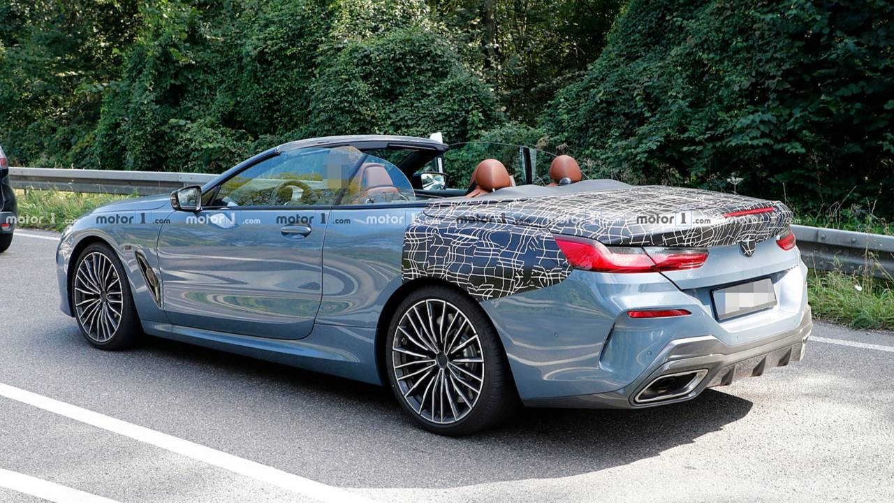 BMW 8 Series Convertible Spied Uncovered