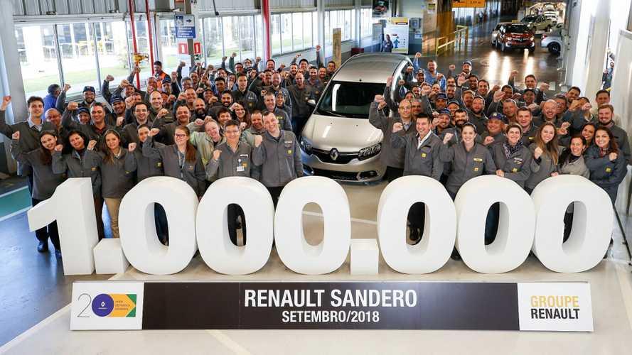 Renault Sandero chega a 1 milhão de unidades produzidas no Brasil