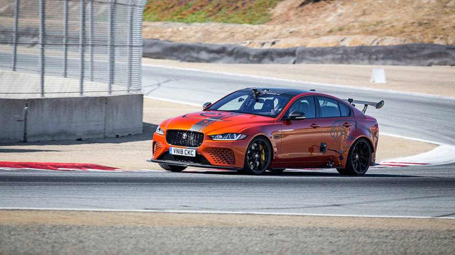 Jaguar beats lap record at famous American track