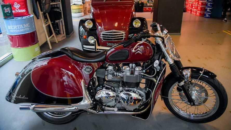 une moto sp u00e9ciale pour les 70 ans de la 2cv foto