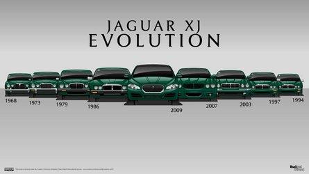 Jaguar XJ'nin 9 jenerasyonunu sırasıyla görün