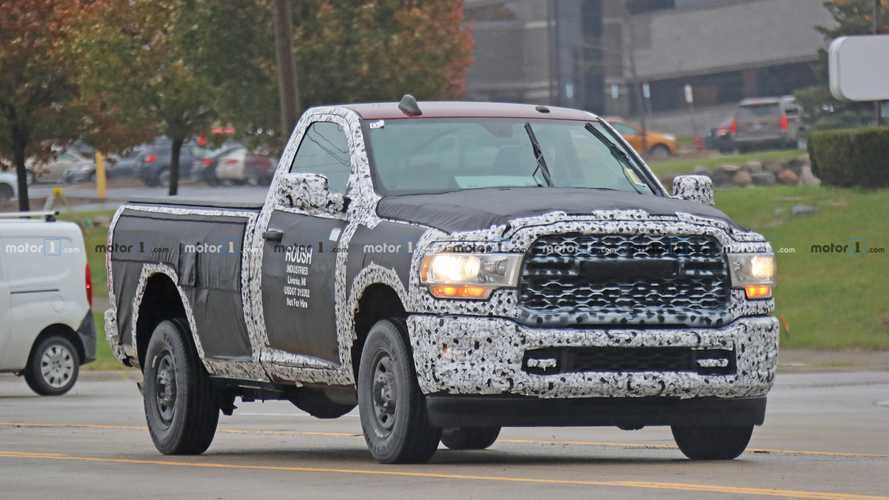 2020 ram 2500 tradesman spied with its face exposed. Black Bedroom Furniture Sets. Home Design Ideas