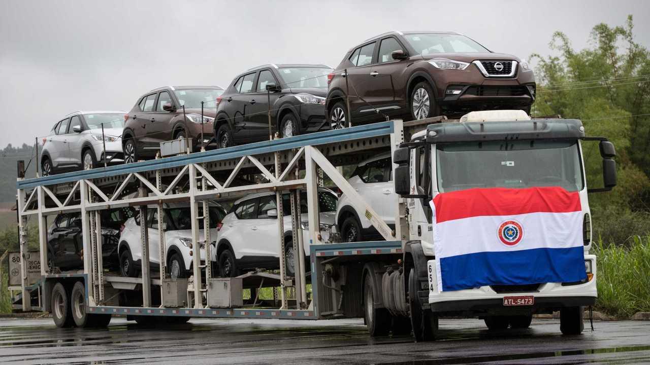 Nissan Kicks Paraguai - Exportação