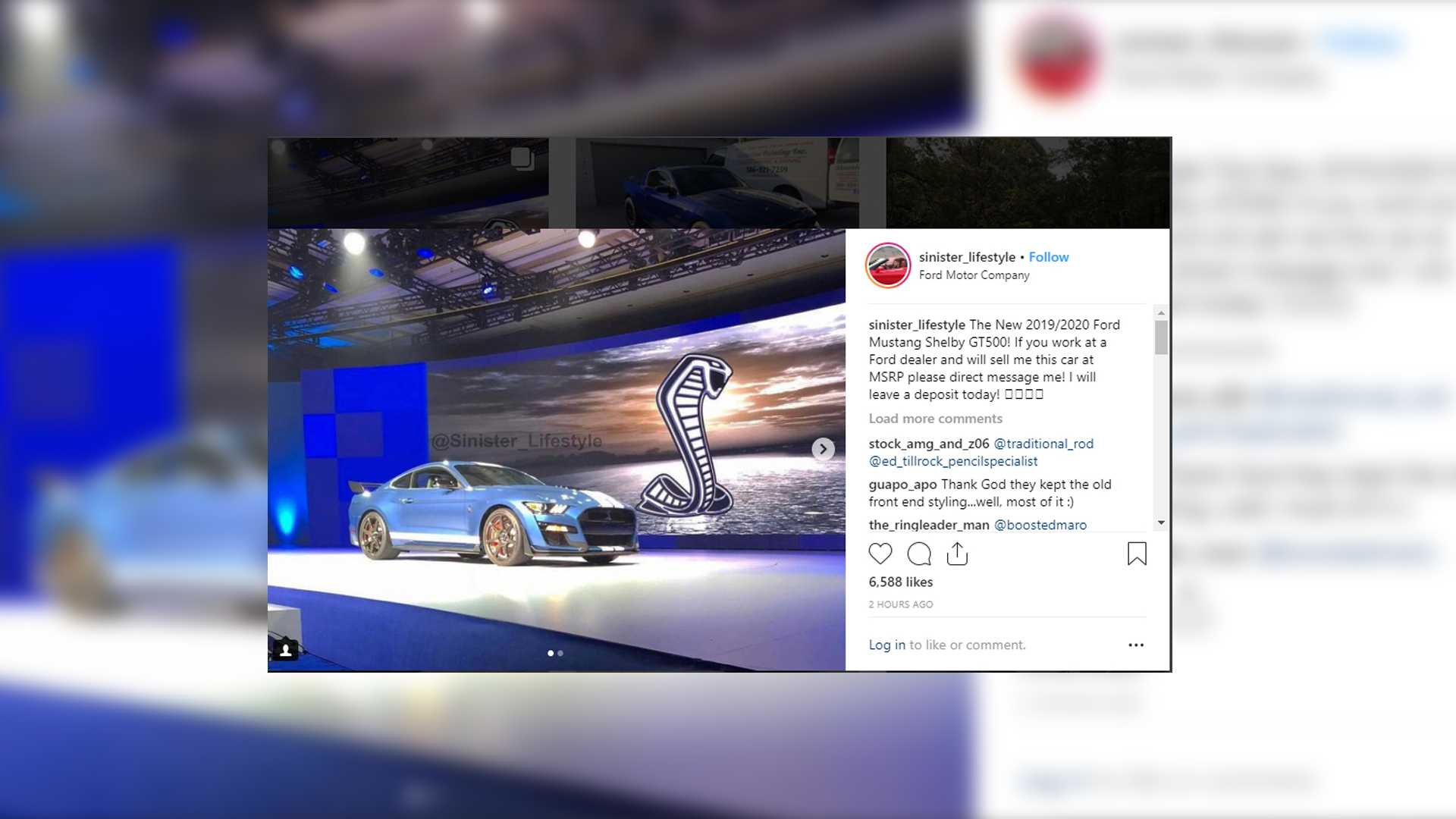 2019 ford mustang shelby gt500 allegedly leaked online