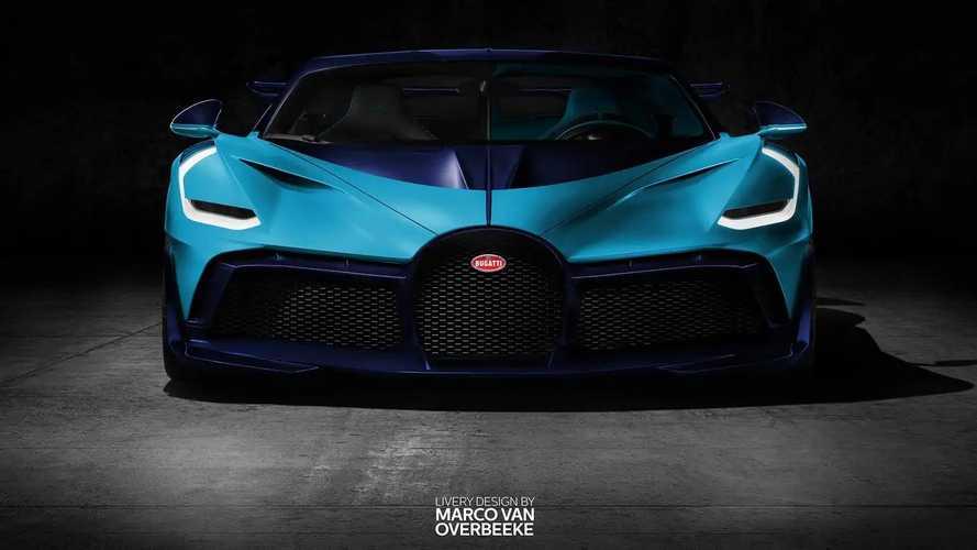 Bugatti Divo 2019, decoraciones vintage