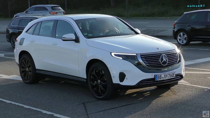 Production Mercedes-Benz EQC Spotted Out In The Wild: Video