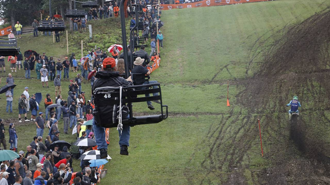 Best seats in the house for the hillclimb.