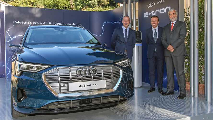 Audi e-tron, in Italia da 83.930 euro e si ricarica con Enel X