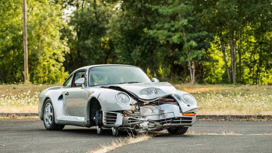 El Porsche 959 de 1987, que se subastó accidentado, ya tiene precio