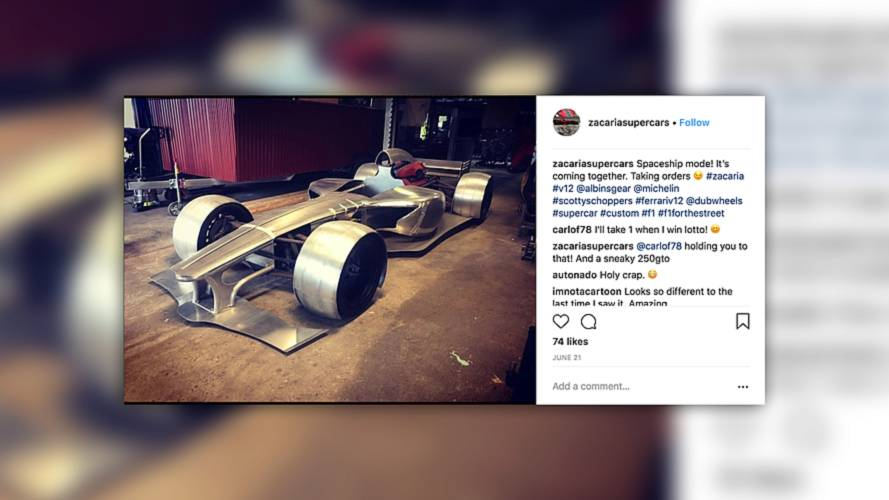 Someone's building an F1-esque road car with Ferrari power