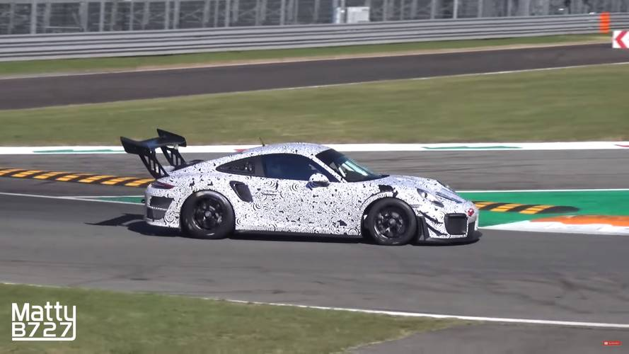 Porsche 911 GT2 RS Race Car Spied Turning Laps At Monza