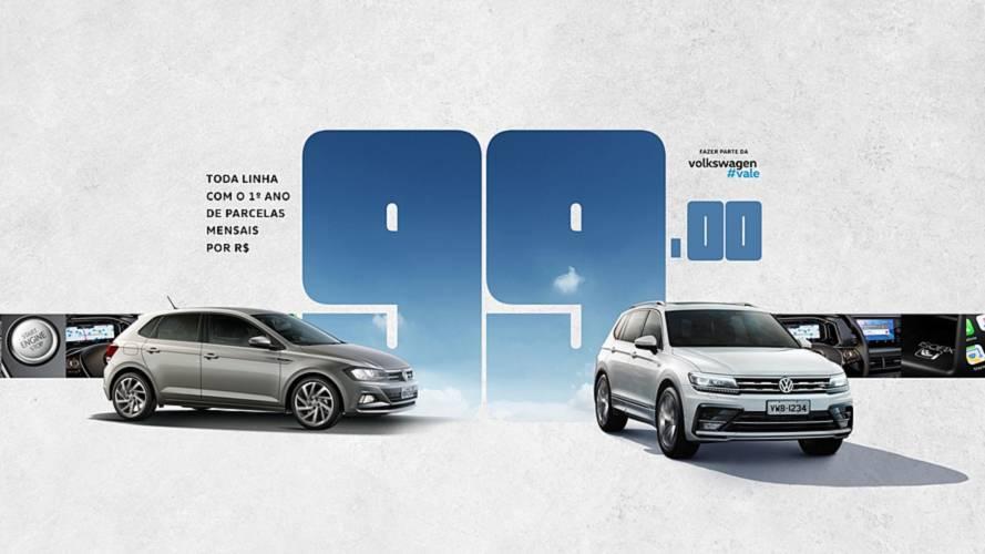 VW retoma promoção com parcelas de R$ 99 no 1º ano para todos os modelos