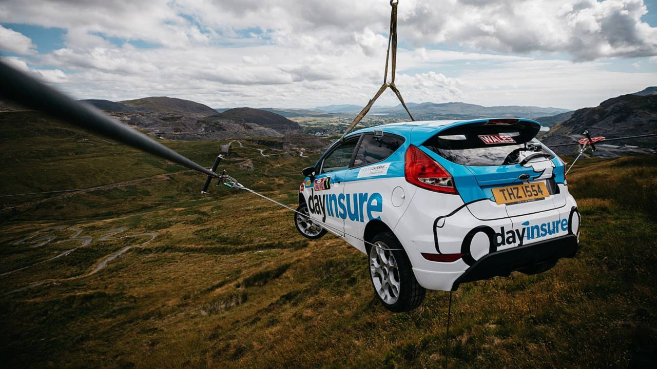 Cool This Is How You Put A Ford Fiesta On A Zip Line Wiring 101 Relewellnesstrialsorg