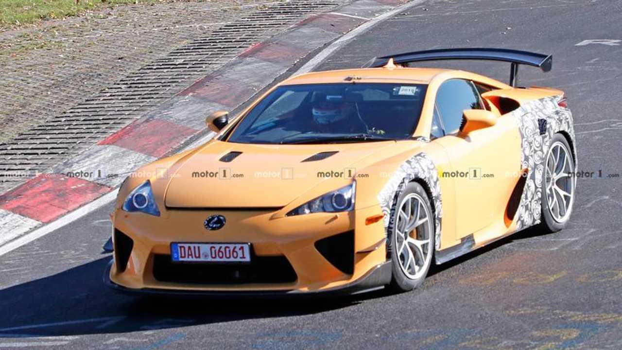 Misterioso Lexus LFA de pruebas, fotos espía