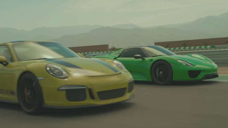 Watch A Porsche 918, 911 R Thrash California's Thermal Race Club