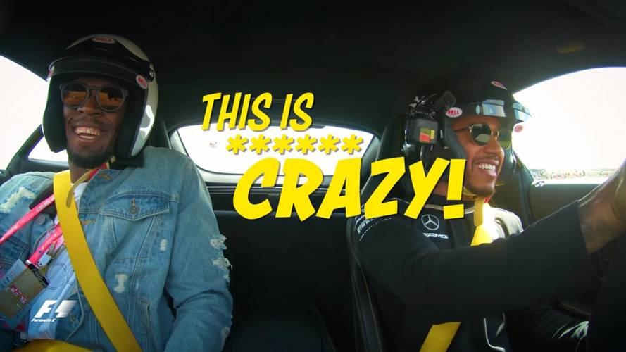 VIDÉO - Quand Lewis Hamilton tente d'impressionner Usain Bolt