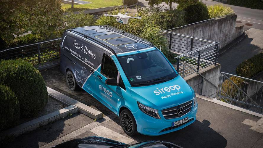 Mercedes Trials Drone Delivery Service With Vito Van