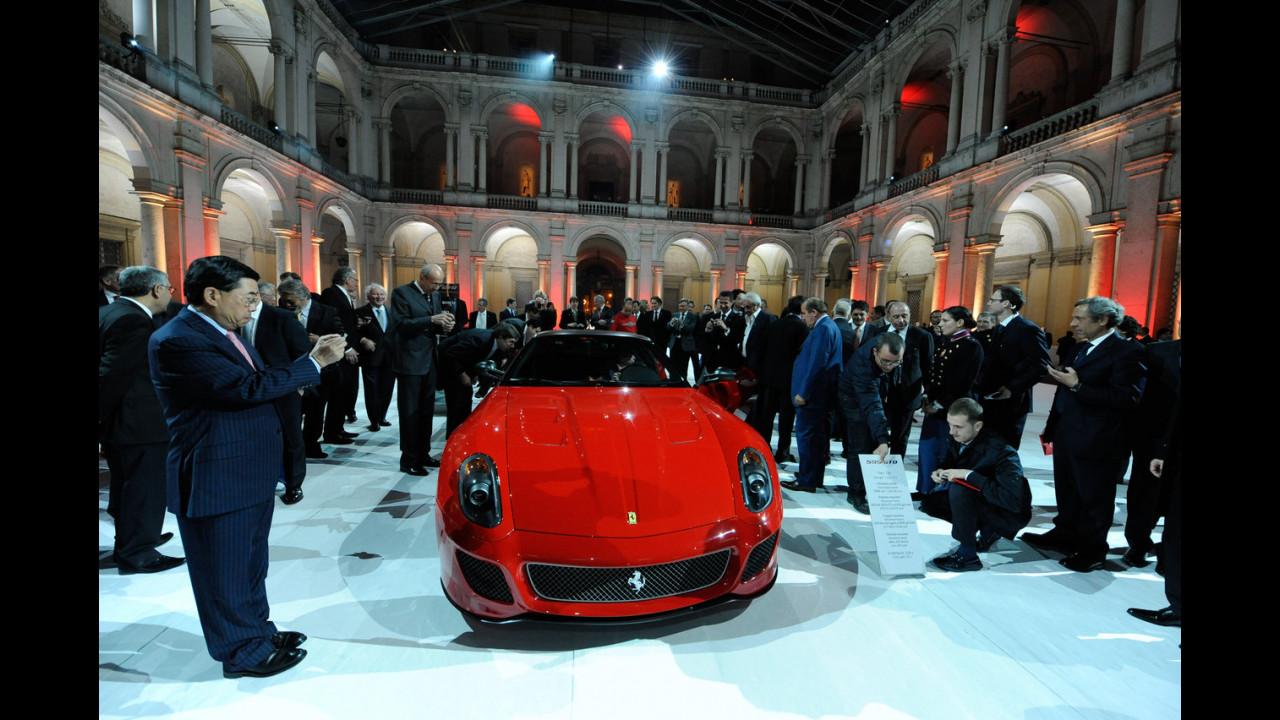La Ferrari 599 GTO all'Accademia Militare di Modena