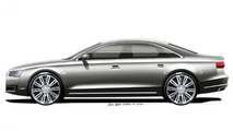 2014 Audi A8 facelift official design sketch 16.08.2013