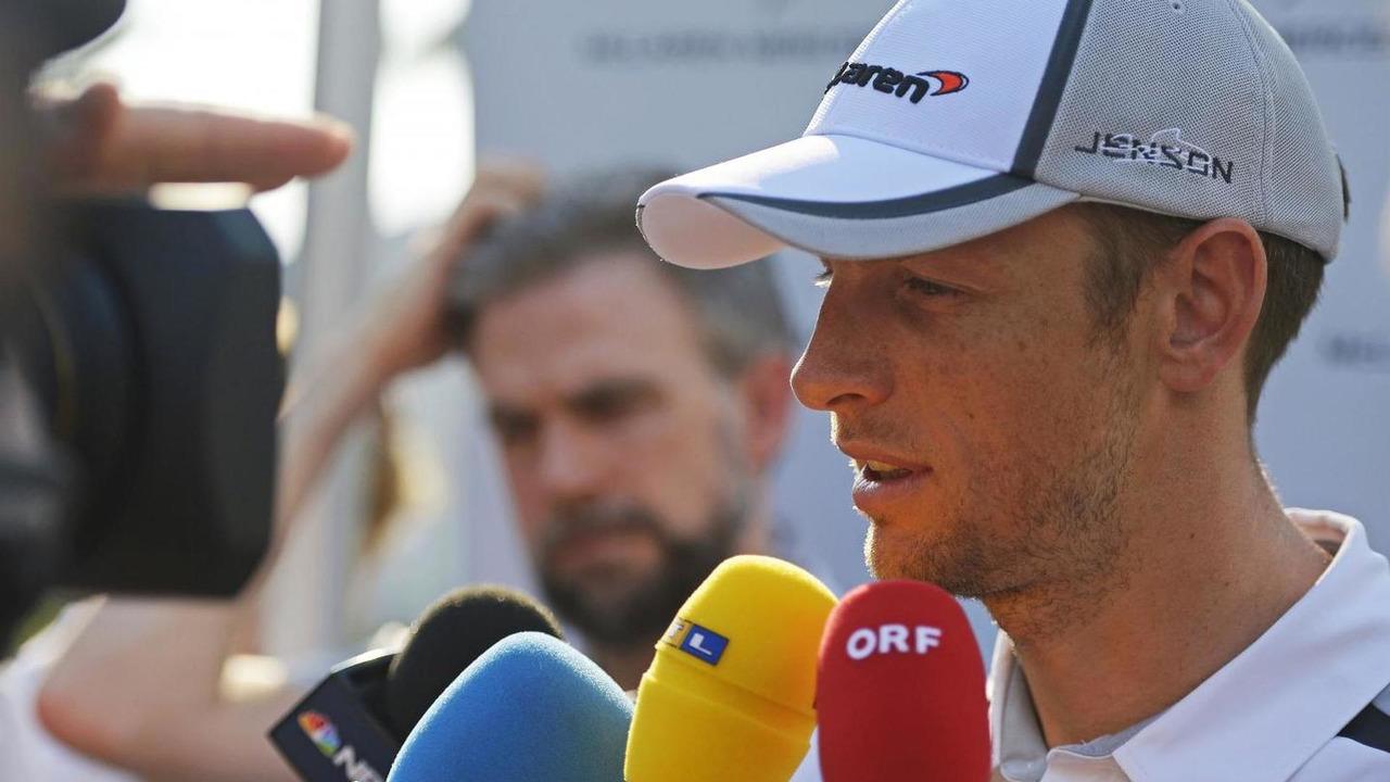 Jenson Button (GBR) with the media, 27.03.2014, Malaysian Grand Prix, Sepang / XPB
