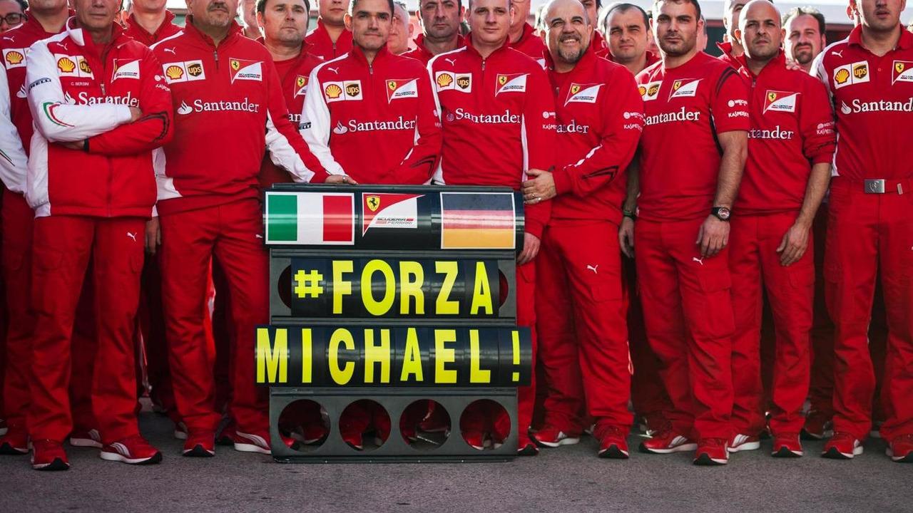 Ferrari sending their best wishes to Michael Schumacher (GER), 27.01.2014, Formula One Testing, Preparations, Jerez, Spain / XPB
